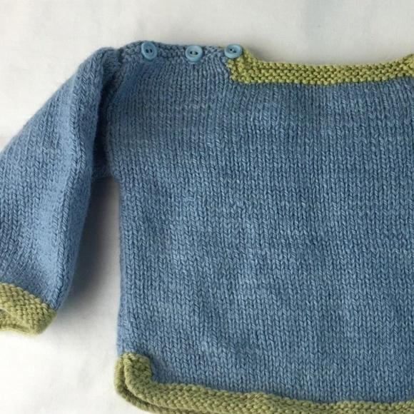 Shirts Tops 330 Handmade Sweater Baby Hand Knit Sweater Poshmark
